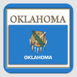 Oklahoma  State Flag Design Sticker
