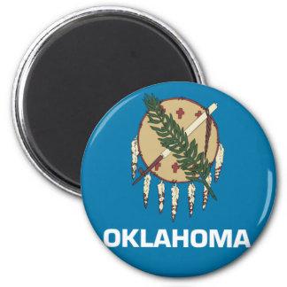 Oklahoma State Flag Emblem 6 Cm Round Magnet