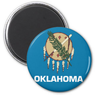 Oklahoma State Flag Emblem Refrigerator Magnet