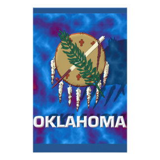 Oklahoma State Flag Personalized Stationery