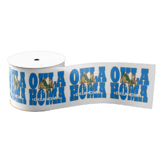 Oklahoma state flag typography design grosgrain ribbon
