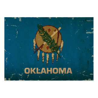 Oklahoma State Flag VINTAGE.png Business Card Template