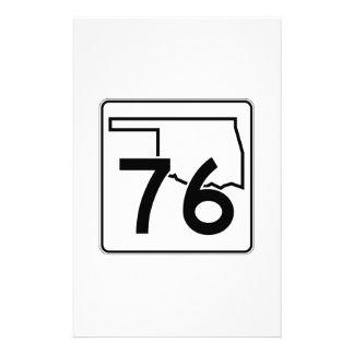 Oklahoma State Highway 76 Customized Stationery
