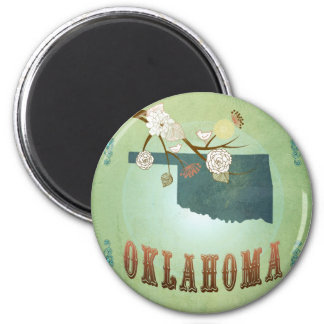 Oklahoma State Map – Green Magnet