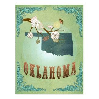 Oklahoma State Map – Green Postcard