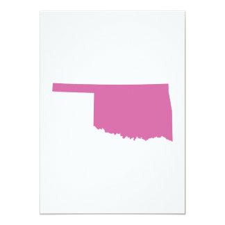 Oklahoma State Outline 13 Cm X 18 Cm Invitation Card
