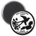 Oklahoma State Quarter 6 Cm Round Magnet