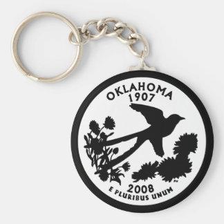 Oklahoma State Quarter Key Ring