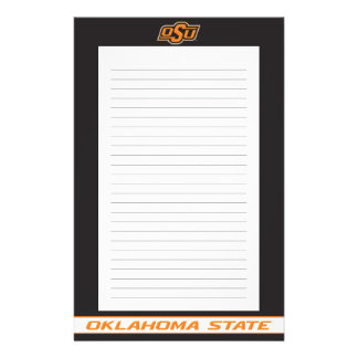 Oklahoma State Wordmark Personalized Stationery