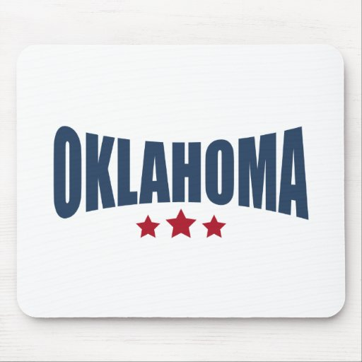 Oklahoma Three Stars Design Mouse Pad