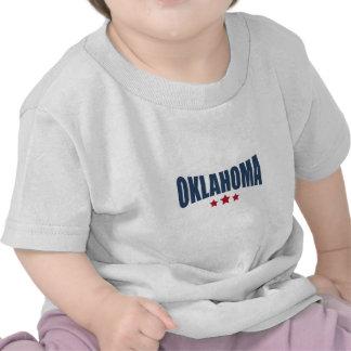 Oklahoma Three Stars Design Tee Shirt