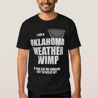 Oklahoma Tornado Weather Wimp Black T-shirt