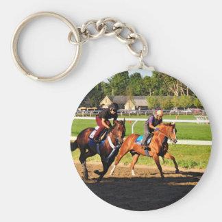 Oklahoma Training Track Basic Round Button Key Ring