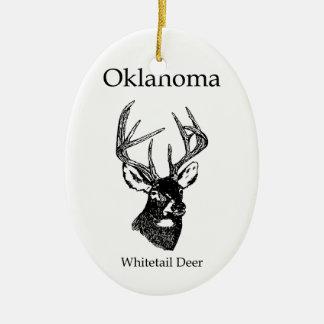Oklahoma USA (whitetail deer) Christmas Ornament