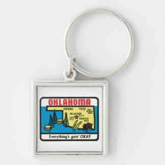 Oklahoma Vintage Label Key Chain