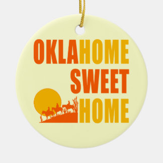 Oklahome Sweet Home Christmas Ornament