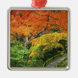 Okochi Sanso, Arashiyama, Kyoto, Japan 2 Silver-Colored Square Decoration