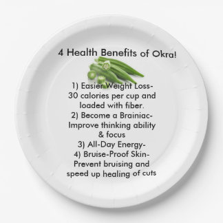Okra Paper Plates 9 Inch Paper Plate