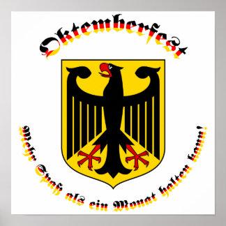 Oktemberfest mit deutschem Wappen Poster