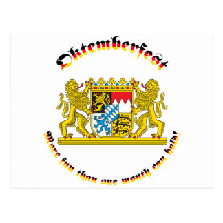 Oktemberfest with Bavarian Greater Arms Postcard