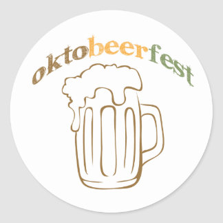 Oktobeerfest Oktoberfest Classic Round Sticker
