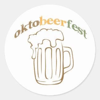 Oktobeerfest Oktoberfest Round Sticker