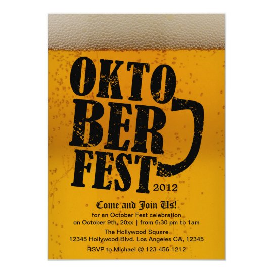 Oktober Fest 2012  - Beer themed invitations