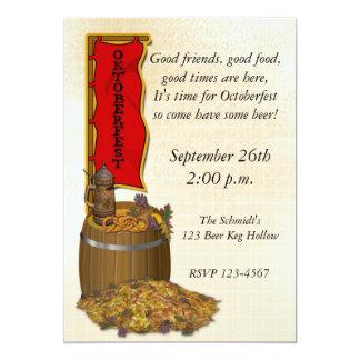 Oktoberfest 13 Cm X 18 Cm Invitation Card