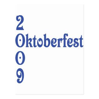 oktoberfest 2009 postcard