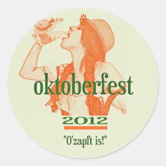 OKTOBERFEST 2012.png Round Sticker