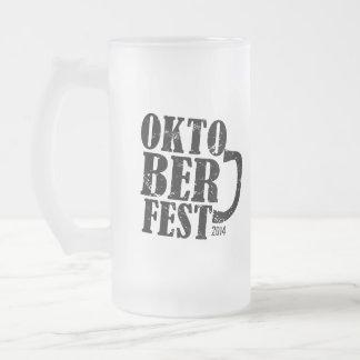 Oktoberfest 2014 frosted glass mug