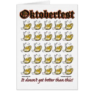 Oktoberfest 25 Beer mugs Card