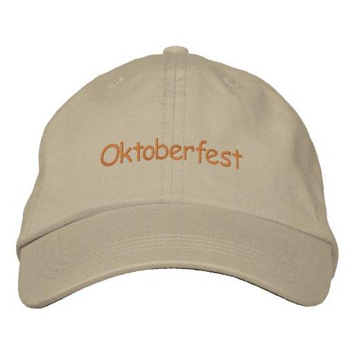 Oktoberfest Adjustable Hat Embroidered Baseball Caps