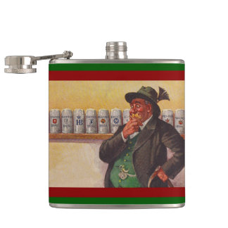Oktoberfest Antique German Bavarian Dilemma Flask