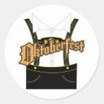 oktoberfest apparel round sticker
