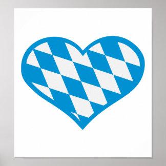 Oktoberfest Bavaria heart Poster