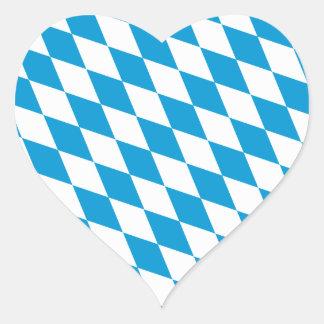 Oktoberfest, Bayern Colors Heart Sticker