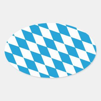 Oktoberfest, Bayern Colors Oval Sticker