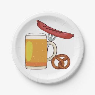 Oktoberfest BBQ paper plates
