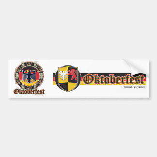 Oktoberfest Beer and Pretzels Bumper Sticker