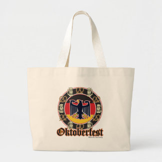 Oktoberfest Beer and Pretzels Large Tote Bag