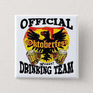 Oktoberfest Beer Drinking Team Shirts and Gifts 15 Cm Square Badge