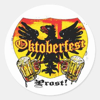 Oktoberfest Beer Drinking Team Shirts and Gifts Round Sticker