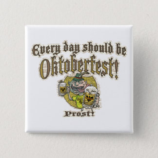 Oktoberfest Beer Guy 15 Cm Square Badge