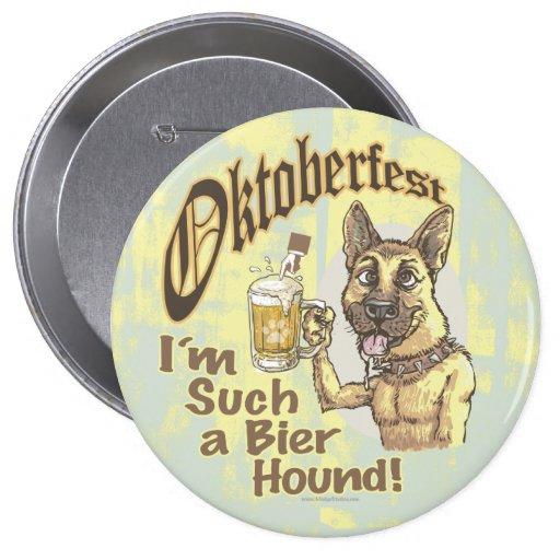 Oktoberfest Beer Hound 10 Cm Round Badge