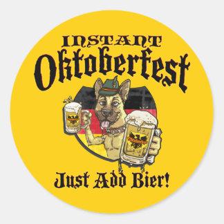 Oktoberfest Beer Hound Round Sticker