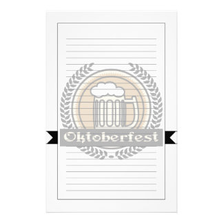Oktoberfest Beer Icon Or Label Stationery
