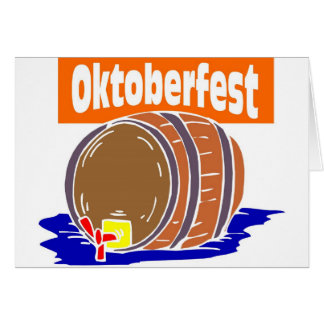 Oktoberfest beer keg card