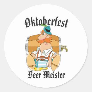 Oktoberfest Beer Meister Classic Round Sticker