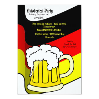Oktoberfest Beer Mug Invitation